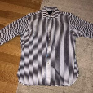 polo by ralph lauren blue and white striped shirt